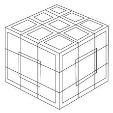 Cubic Geometric Coloring pages