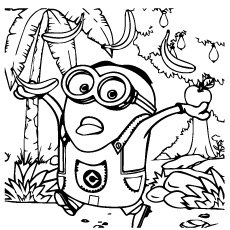 Despicable Me Minion Printable to Color
