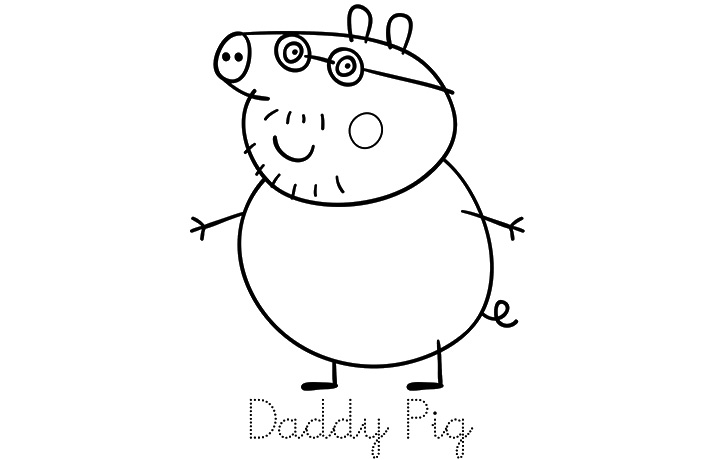 daddy pig images coloring pages - photo#9