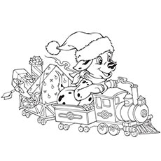 Coloring Pages Of Disney Dalmatiens On Christmas