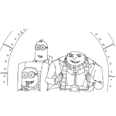Despicable Coloring Pages Me Page