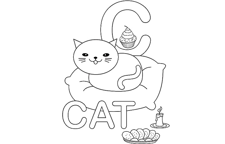 c is for cookie coloring pages - photo #37