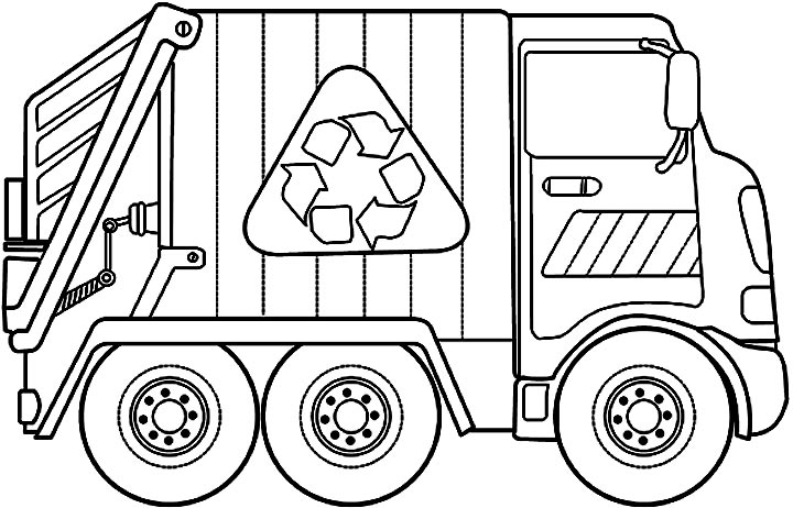 garbage coloring pages to print - photo #1