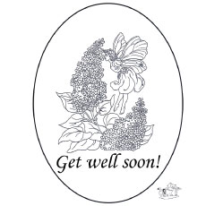 Get Well Soon Card Coloring Pages