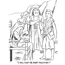Giant Philistine Coloring Pages