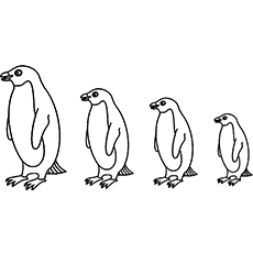 Growing Penguin Coloring Pages