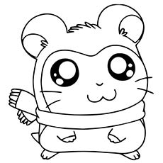 hamtaro coloring pages adorable pashimana