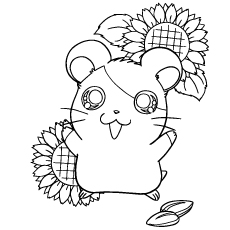 hamtaro-coloring-pages