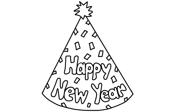 happy new year coloring page  Coloring Pages For Kids and All Ages