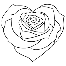 9 Hearts Coloring Pages Page 20 Roses