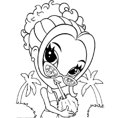Lisa Frank Print Coloring Pages