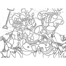 mickey baby mouse christmas - Christmas Coloring Sheets Print