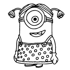 Mini Minion Of Despicable Me Coloring Page To Print
