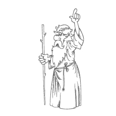 Moses with Stick Coloring Page