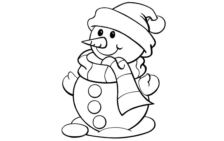 Snowman Cartoon Images Black And White