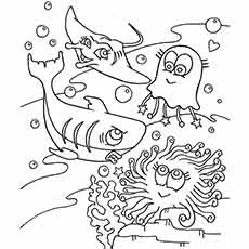 ocean animal wonderful - Ocean Animals Coloring Pages