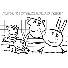 peppa pig swimming pool coloring