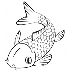 picture of japanese koi fish - Koi Fish Coloring Pages