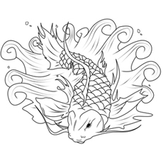 picture of large koi fish - Koi Fish Coloring Pages