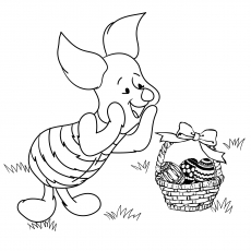 Piglet Pooh And Easter Eggs