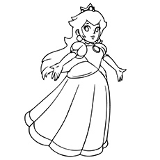 princess peach danceing - Peach Coloring Pages