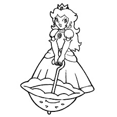 25 best 'princess peach' coloring pages for your little girl - Baby Princess Peach Coloring Pages