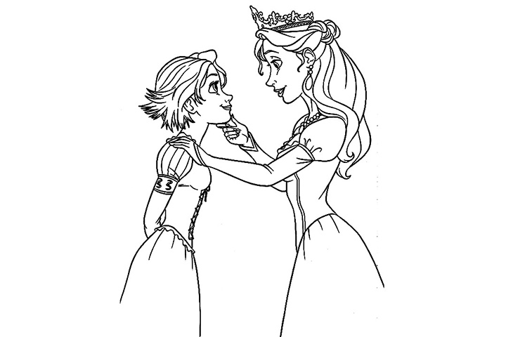Tangled Rapunzel Short Hair Coloring Coloring Pages