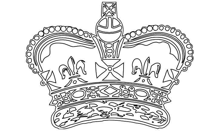 Royal crown coloring pages