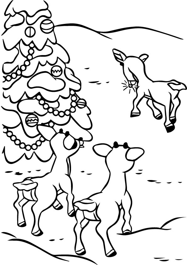 rudolph-friends-coloring-page
