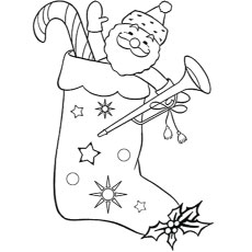 photograph relating to Christmas Stocking Printable referred to as Ultimate 25 No cost Printable Xmas Stocking Coloring Web pages On line