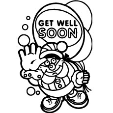 coloring pages santa says get well soon
