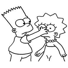 simpsons - Cartoon Coloring Pages Printables
