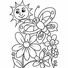 spring day flowers - Spring Coloring Sheets Free Printable