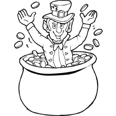 Charming St Patricks Day Coloring Page Beautiful