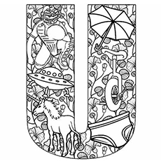 Letter U Coloring Pages - Free Printables - MomJunction