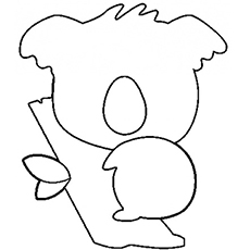 Baby Koalas Silhouette Coloring Page