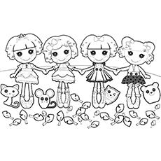 Lalaloopsy Girls Bea Friends Coloring Page Free