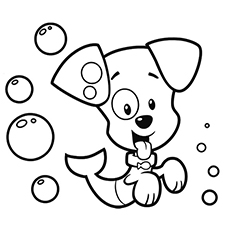 bubble puppy with a fish tail