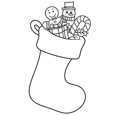 Christmas Stocking Ornaments Pics Coloring Pages to Print