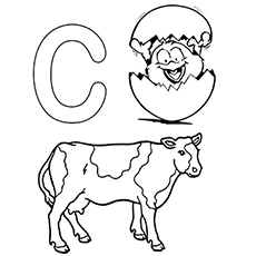 cow and chicken coloring pages - photo#14