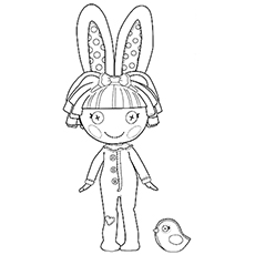 Printable Lalaloopsy Cotton Hoppalong Coloring Pages