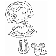 Crumbs Sugar Cookie Lalaloopsy Doll Coloring Page to Print