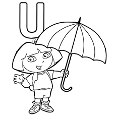 Letter U Coloring Pages Free Printables Momjunction