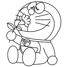 doremon cartoon coloring pages - Free Cartoon Coloring Pages