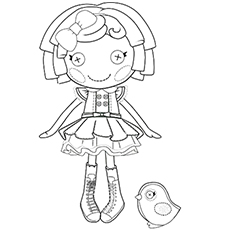 Lalaloopsy Dot Starlight Doll Picture to Color