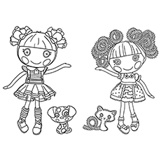 Ember with Silly Hair Doll Coloring Sheet Printable