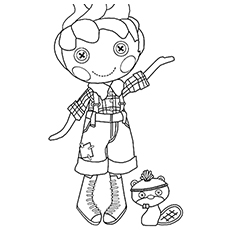 Coloring Picture of Forest Evergreen is Best Lumberjack of Lalaloopsy Lands