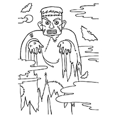 Free Printable Monster Frankenstein Coloring Pages