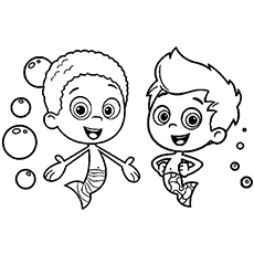 Bubble Guppies Coloring Pages Bubble Guppies Coloring Pages  25 Free Printable Sheets