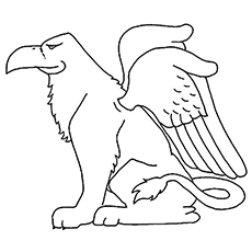 Griffin Monster Coloring Page to Print